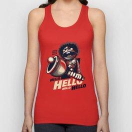 HELLO! HELLO! (red) Unisex Tank Top