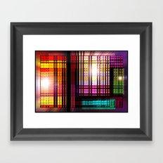 Colorful glass lens window. Framed Art Print