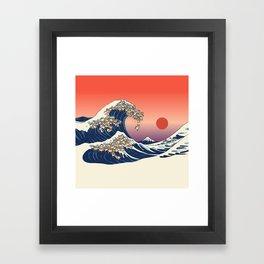 The Great Wave of Shiba Inu Framed Art Print