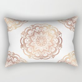 Mandala Rose-Gold Shine Rectangular Pillow