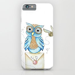 Harry Potter - Hedwig Owl and Golden Snitch iPhone Case