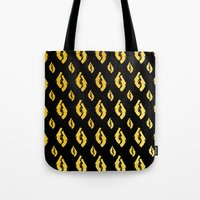 guns Tote Bags featuring Golden Guns by deff