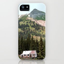 Country Schoolhouse at the Gold Rush Idarado Mine iPhone Case