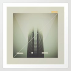 Devon Tower Divided By Fog Art Print