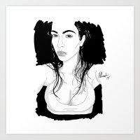 kardashian Art Prints featuring Selfish Kardashian by vllancourt