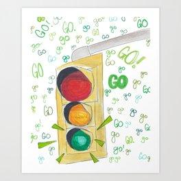 Go!Go!Go! Art Print