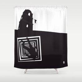 The Black Collection' Vertigo Shower Curtain
