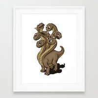 hydra Framed Art Prints featuring Hydra by Jada Fitch