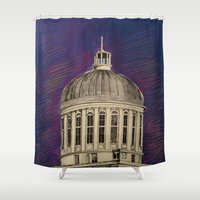 montreal Shower Curtains featuring Montreal by Shazia Ahmad