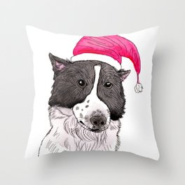 Merry Christmas from My Dog Throw Pillow
