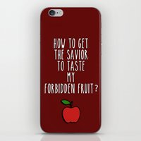 swan queen iPhone & iPod Skins featuring Swan Queen - Forbidden Fruit by Sarah and Bree