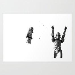 Starwars in space  Art Print