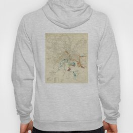 Vintage Baltimore MD Railroad Map (1922) Hoody