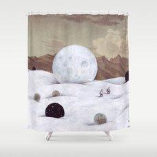 Seak And Find Shower Curtain By Matthiasleutwyler