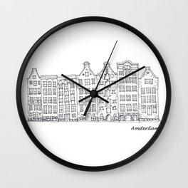 Amsterdam Streetscape Wall Clock