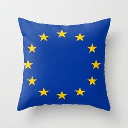 Flag of Europe 2 Throw Pillow