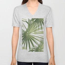 Tropical Beach Palm Vector Unisex V-Neck