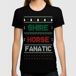 ShireHorse Christmas Present Winter Horse T-shirt