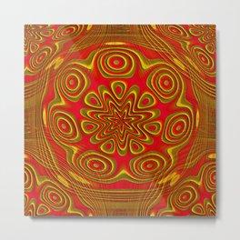 Gold Emboss Metal Print