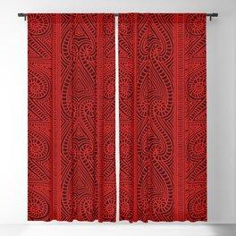 Maori tribal pattern – The Whakairo art of carving Blackout Curtain