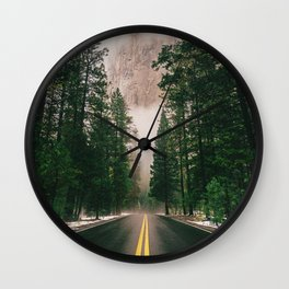 On the Road III / Yellowstone Wall Clock