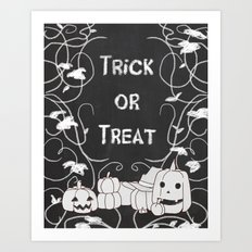 Trick or Treat Pumpkin Patch Art Print