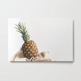Pineapple Baby Metal Print