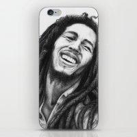 marley iPhone & iPod Skins featuring Marley ballpoint pen by David Kokot