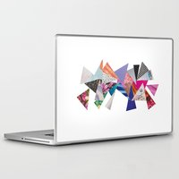 triangles Laptop & iPad Skins featuring Triangles by Lydia Coventry