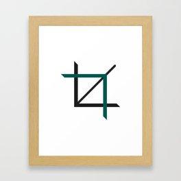 Crop-top white Framed Art Print