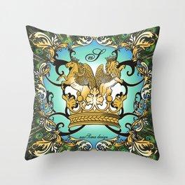 Royal Horse & Leo - animalprint Throw Pillow