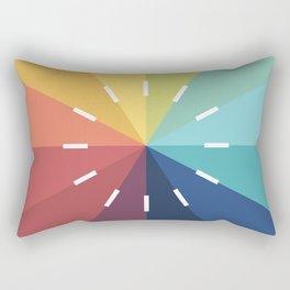 Modern Color Wheel Rectangular Pillow