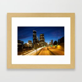Amazing Seattle Night Framed Art Print