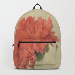 Zonal Pelargonium Flower Backpack