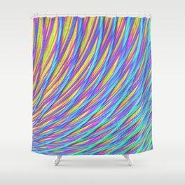 Rainbow Weave Shower Curtain
