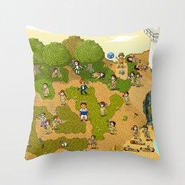 Super Battle Royale Throw Pillow