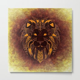 Abstract Lion Metal Print