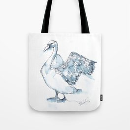 Swan, Wings Tote Bag