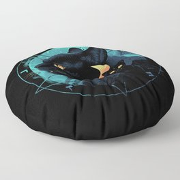 Puss the Devil Cat Floor Pillow