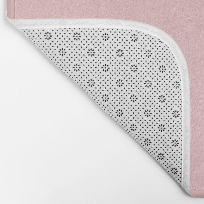 Millennial Pink Solid Matte Bath Mat