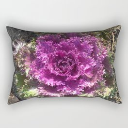 Getty Villa Garden Malibu  Purple Plant Rectangular Pillow