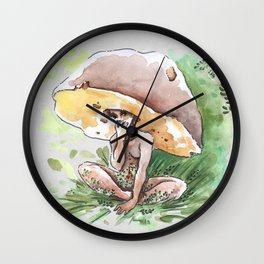 Empire of Mushrooms: Boletus Edulis Wall Clock