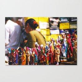 Anjuna flea-market, Goa, India Canvas Print