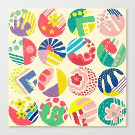 Abstract circle fun pattern Canvas Print