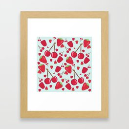 Fruit Salad - Red Berries Framed Art Print