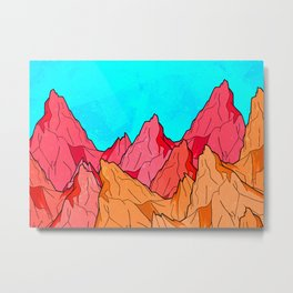 The Red and Orange Mounts Metal Print