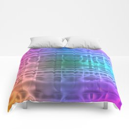 Abstract Rainbow Comforters