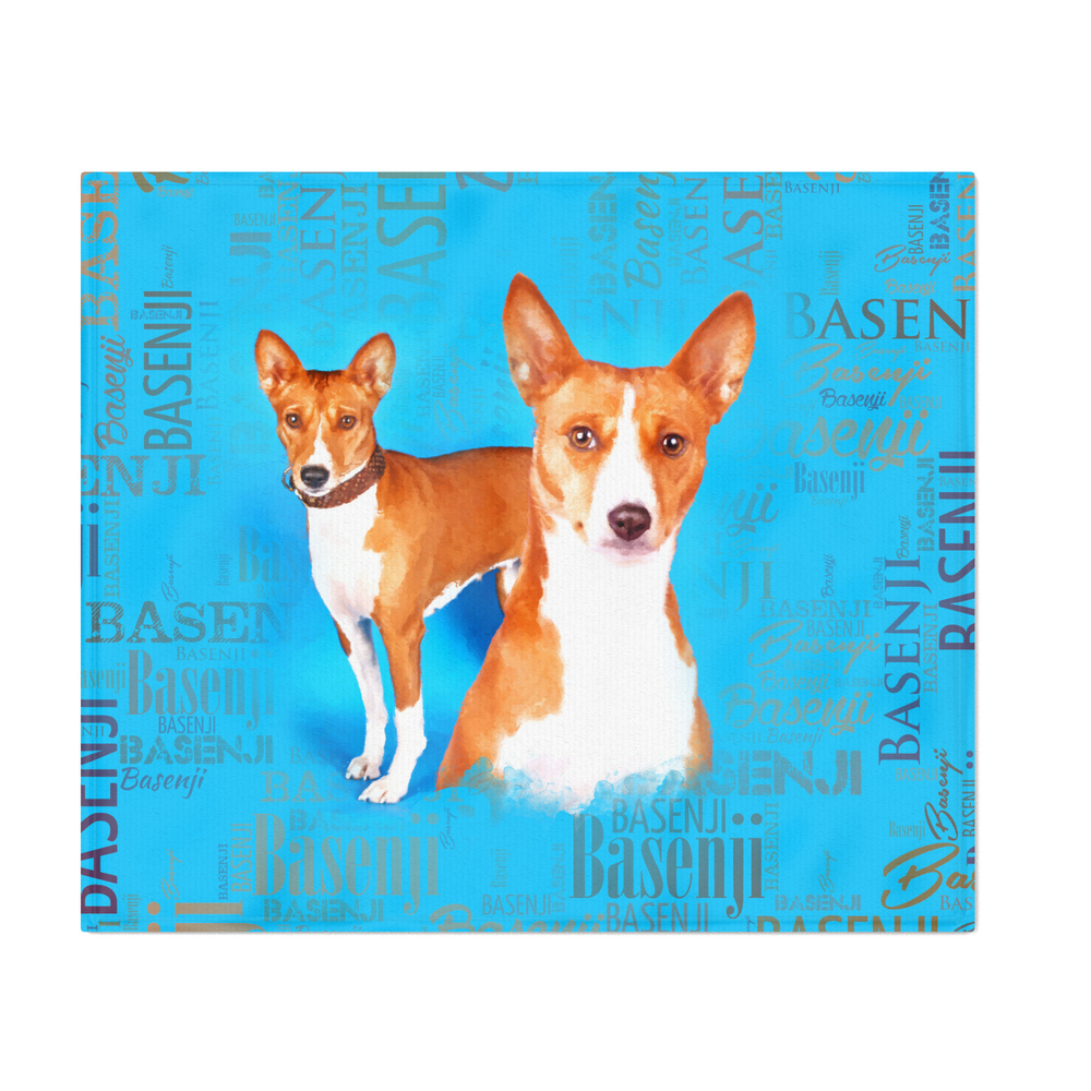 Basenji_Dogs_With_Word_Cloud_Pattern_Throw_Blanket_by_k9printart