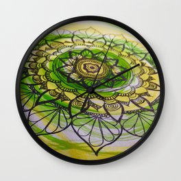 Mandala flower Wall Clock