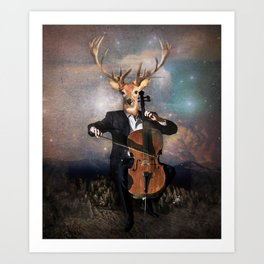 The Musican - Vinolocello Art Print